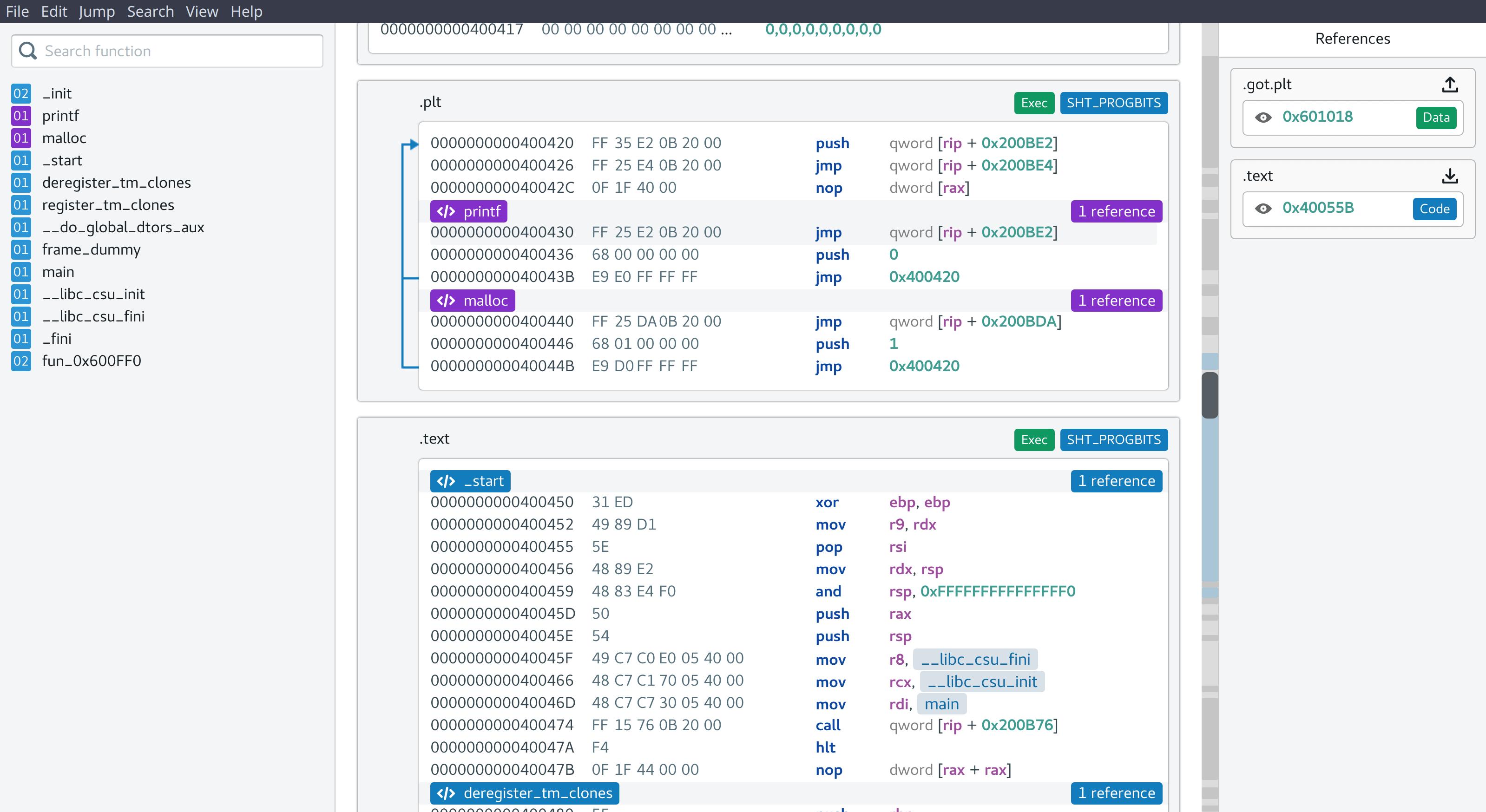 Binaryum, a Modern Disassembler